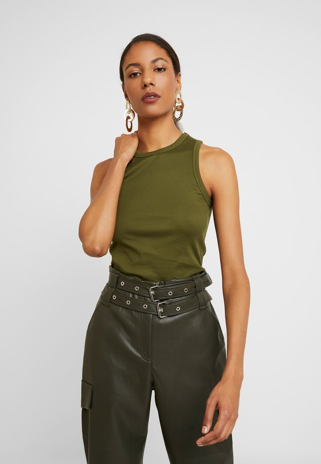SLEEVELESS - Top - dark olive