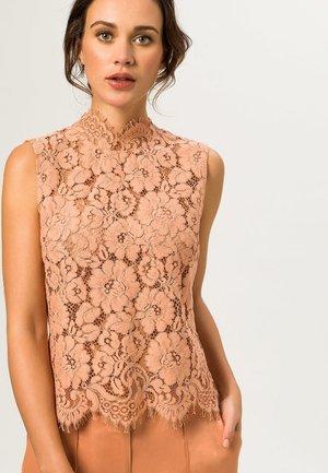 STAND UP COLLAR - Bluse - vintage rose