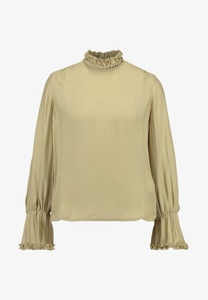 SLEEVE BLOUSE - Camicetta - dried thyme/moss green