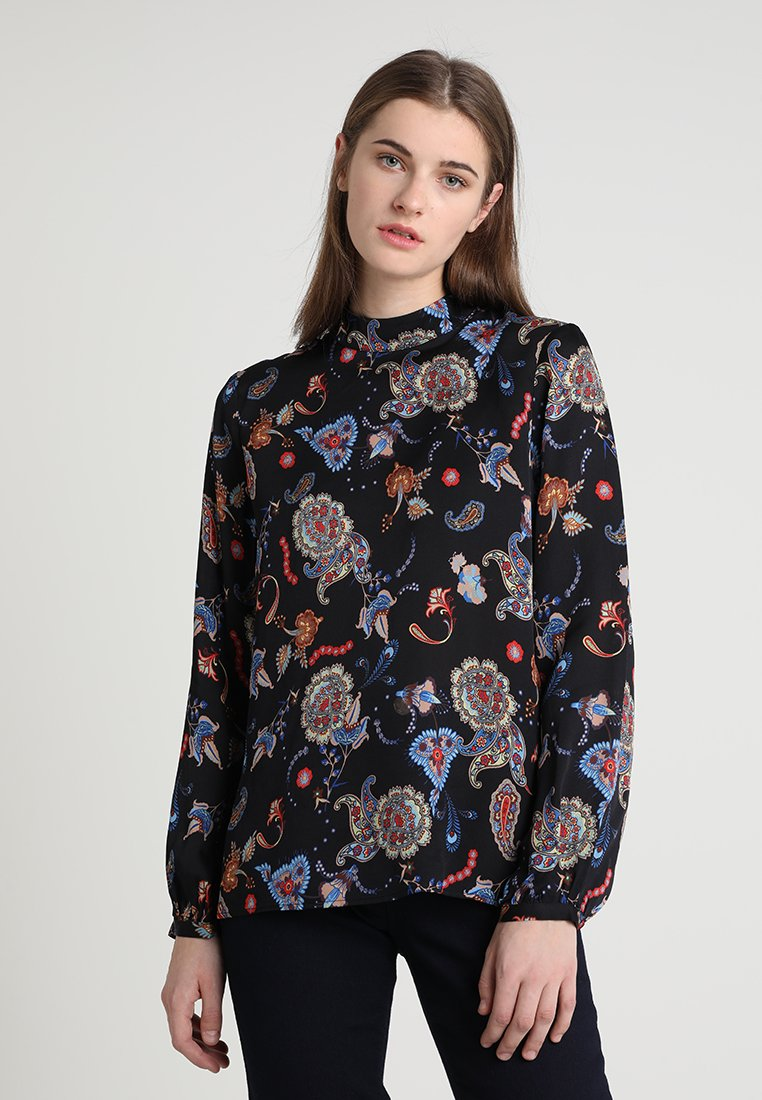 IVY & OAK - STAND UP COLLAR BLOUSE - Camicetta - black