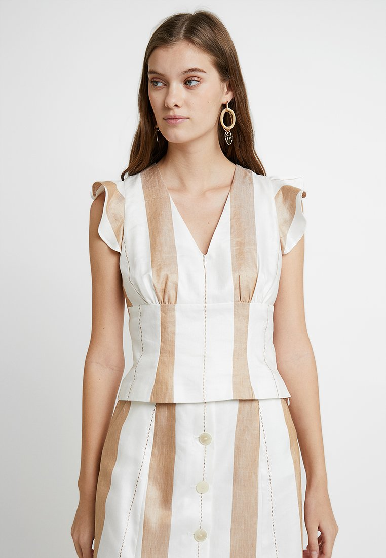 IVY & OAK - WITH VOLANTS - Blouse - beige