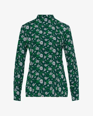 STAND UP COLLAR BLOUSE - Blouse - evergreen