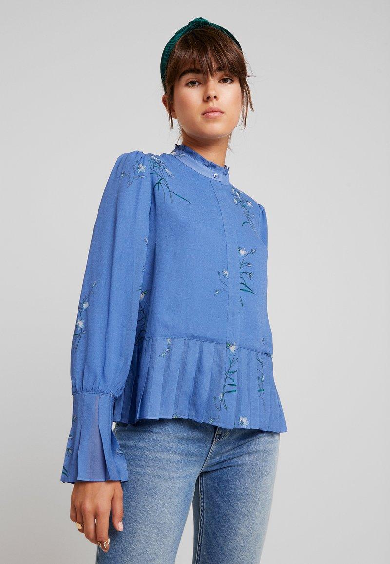 IVY & OAK - PLISSÉ BLOUSE - Bluse - parisian blue