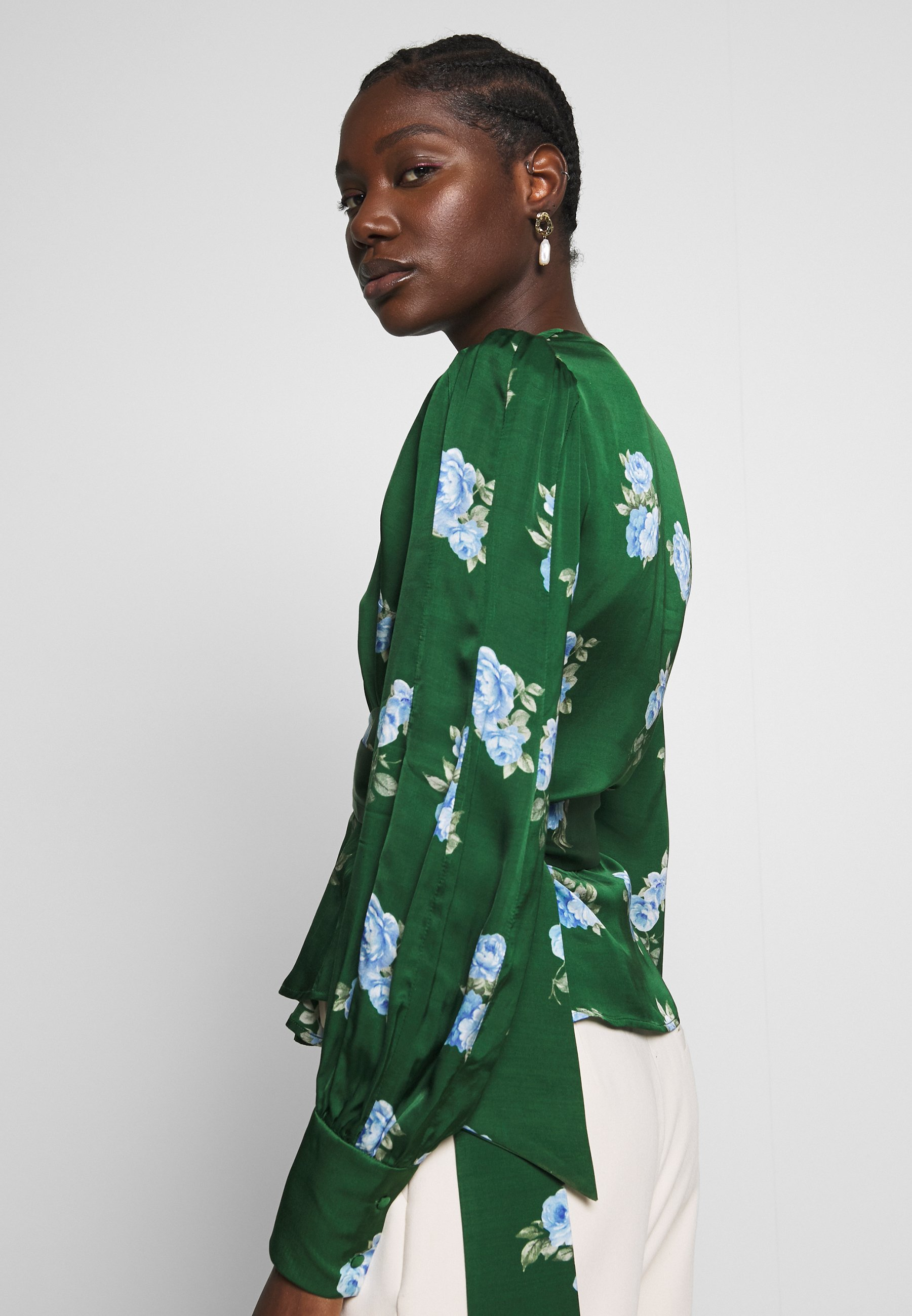IVY & OAK PUFFY SLEEVES BLOUSE - Bluzka - porcelain/eden green