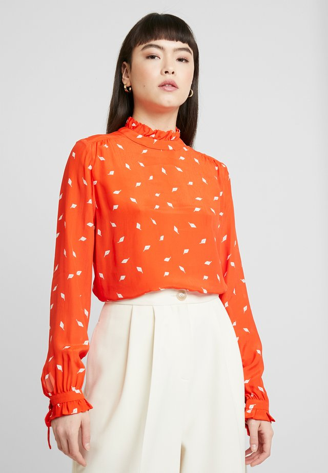 Blouse - mandarin red