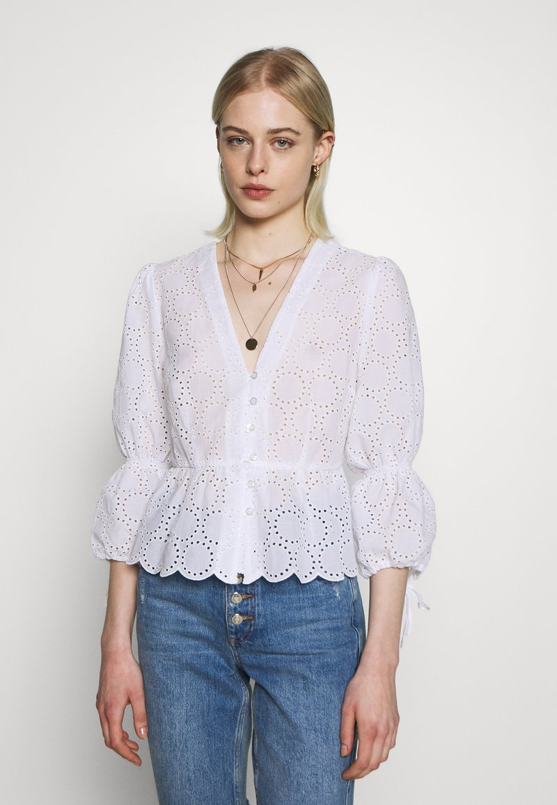 IVY & OAK - BROIDERY ANGLAISE  - Bluse - bright white