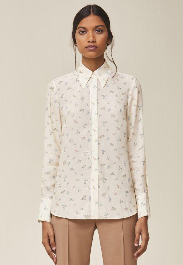 MIT FLORALEM PRINT - Button-down blouse - light sand