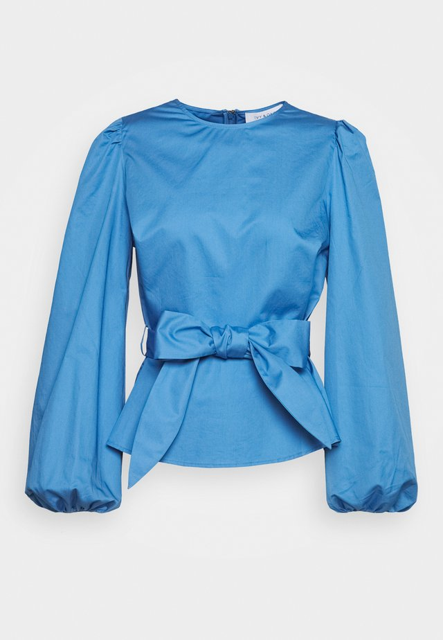 WITH PEPLUM - Bluzka - sea blue