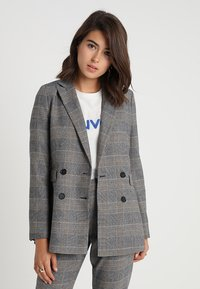 IVY & OAK - DOUBLE BREASTED CHECKED - Blazer - grey check - 0