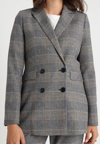 IVY & OAK - DOUBLE BREASTED CHECKED - Blazer - grey check - 3