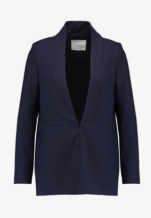 SHAWL COLLAR - Cappotto corto - navy blue