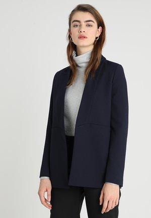 SHAWL COLLAR - Short coat - navy blue