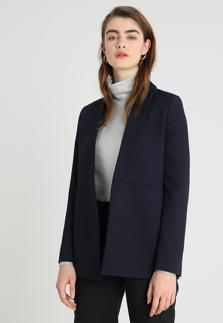 IVY & OAK - SHAWL COLLAR - Abrigo corto - navy blue