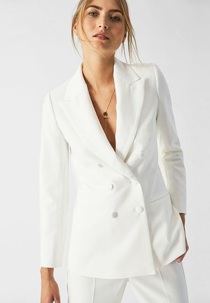 DOUBLE BREASTED TUXEDO - Blazer - white