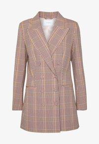 IVY & OAK - CHECK DOUBLEBREASTED - Short coat - blush - 5