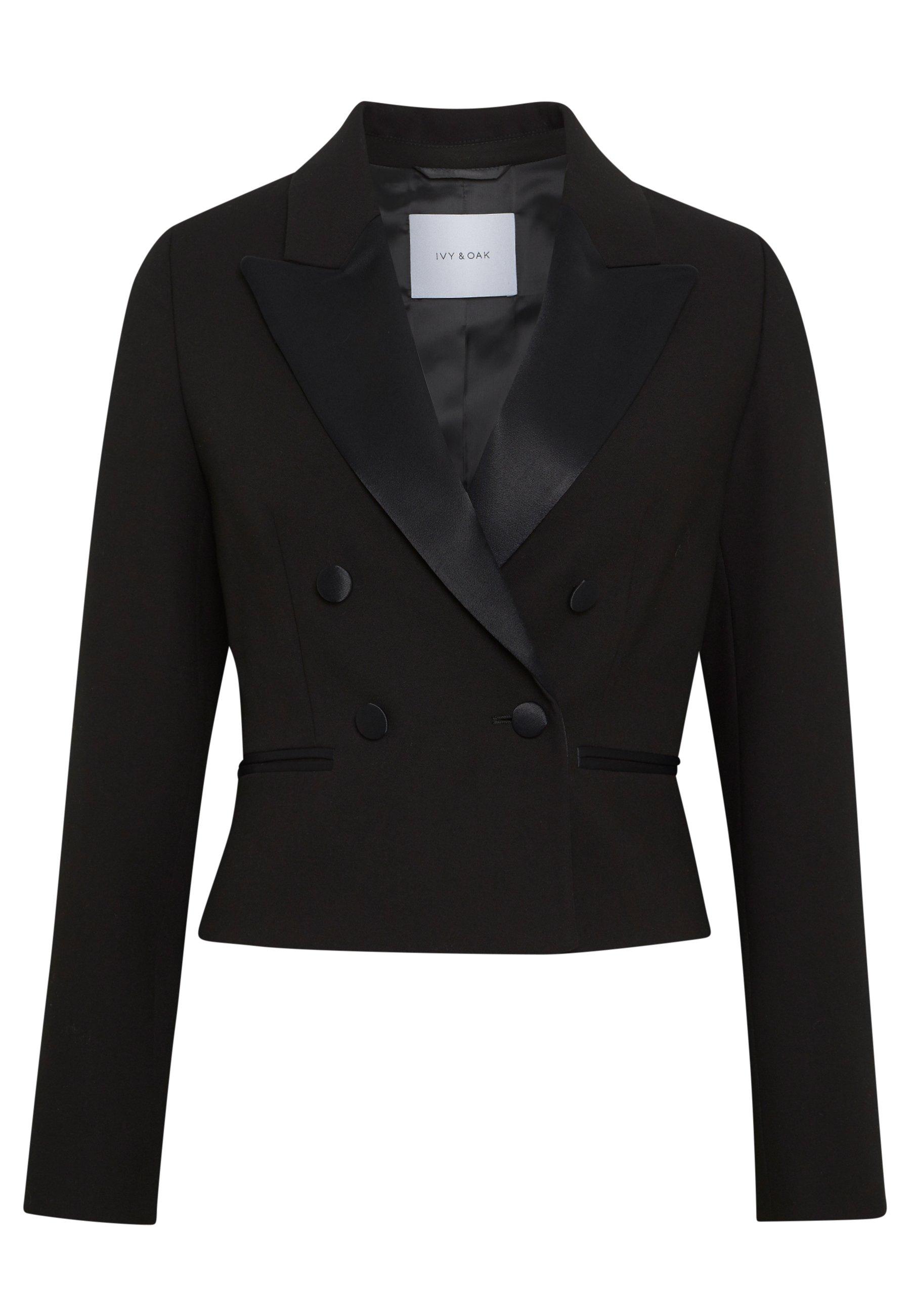 Ivy & Oak Cropped - Blazer Black UK