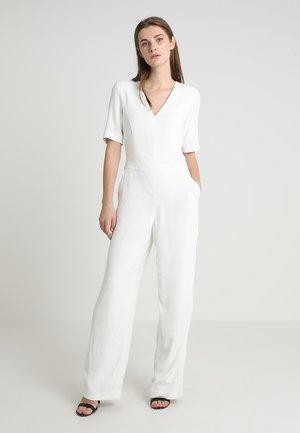 V NECK - Tuta jumpsuit - white