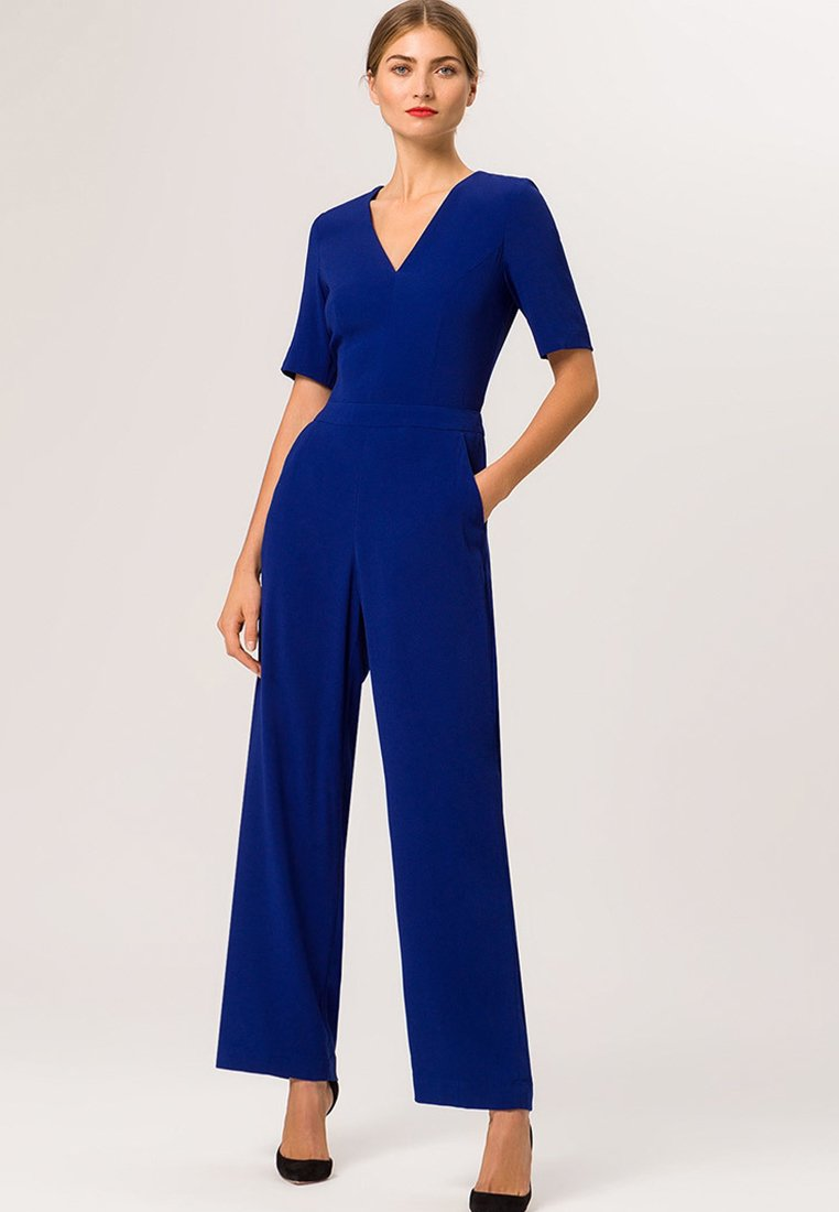 IVY & OAK V NECK - Tuta jumpsuit royal blue