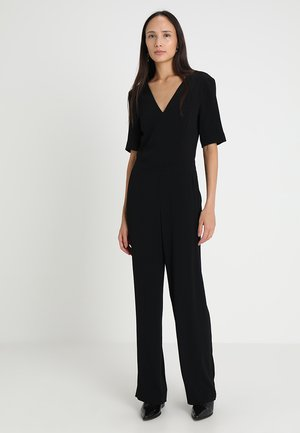V NECK - Tuta jumpsuit - black