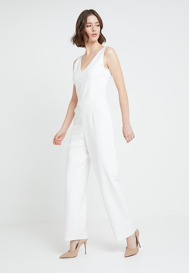 V NECK - Jumpsuit - snow white