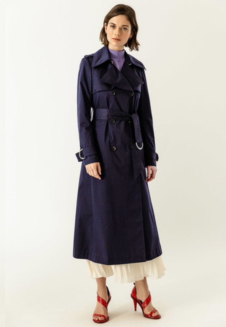 IVY & OAK - Trenchcoat - navy blue