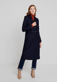 IVY & OAK - CLASSIC DOUBLE BREASTED COAT - Mantel - navy blue - 0