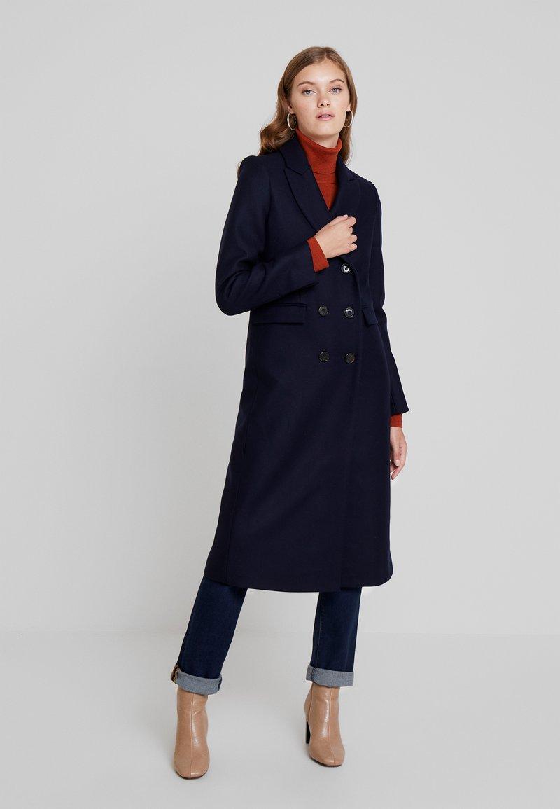 IVY & OAK - CLASSIC DOUBLE BREASTED COAT - Wollmantel/klassischer Mantel - navy blue