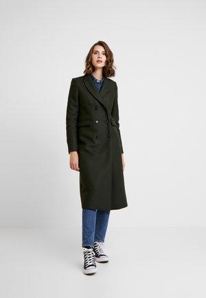 CLASSIC DOUBLE BREASTED COAT - Płaszcz wełniany /Płaszcz klasyczny - iris leaf