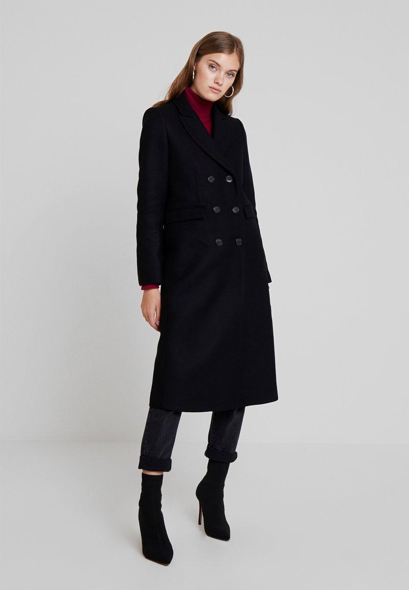 IVY & OAK - CLASSIC DOUBLE BREASTED COAT - Cappotto classico - black