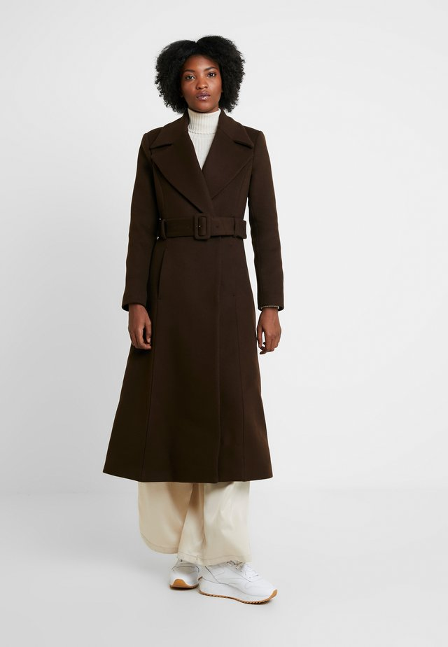 STATEMENT  - Classic coat - dark chocolate
