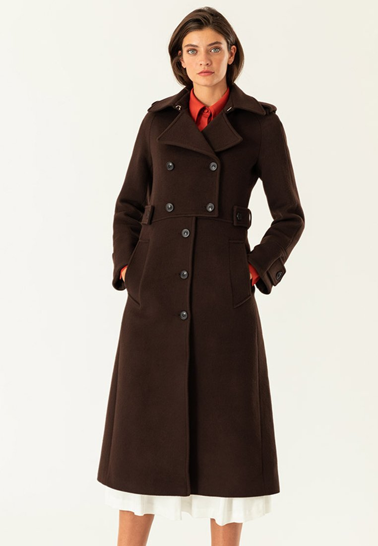 IVY & OAK - Trenchcoat - dark chocolate