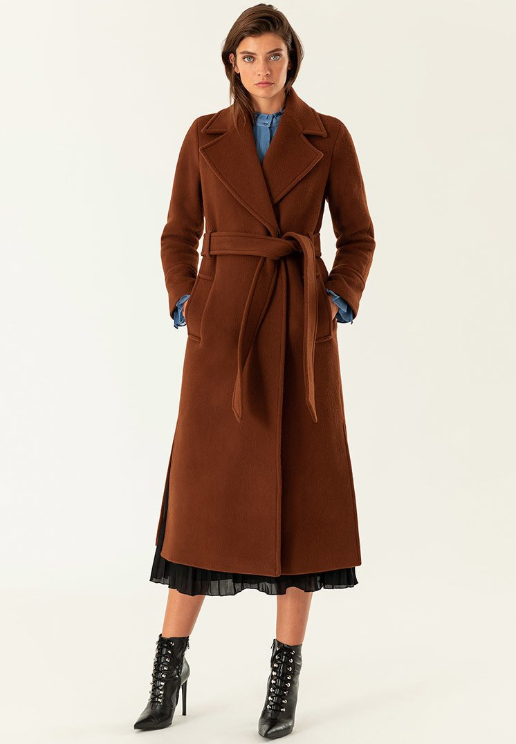 IVY & OAK - Trenchcoat - dark cognac