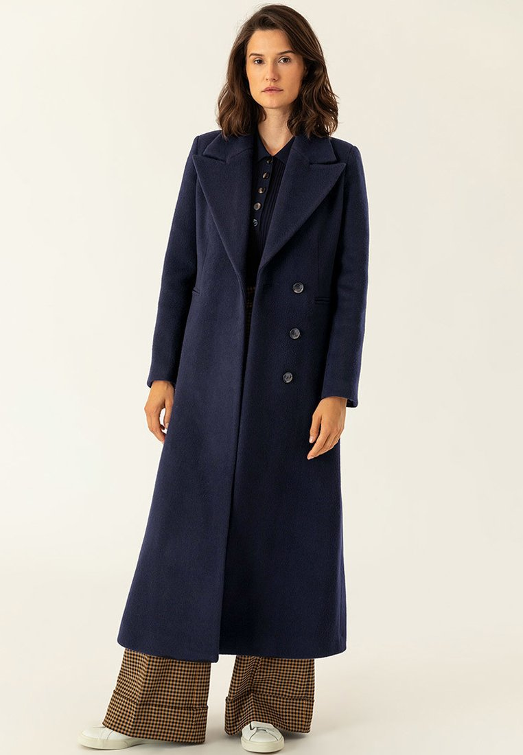 IVY & OAK - MAXI COAT - Płaszcz wełniany /Płaszcz klasyczny - navy blue