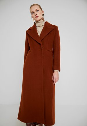 MAXI COAT - Mantel - dark cognac