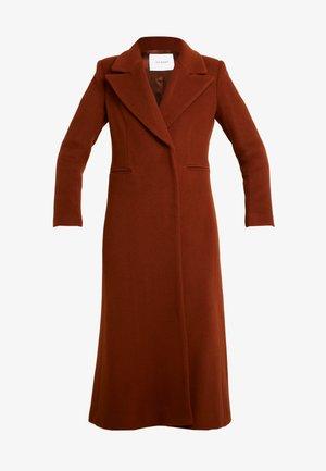 MAXI COAT - Classic coat - dark cognac