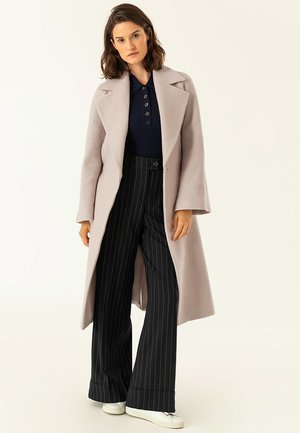 BIG BELT COAT - Classic coat - birch