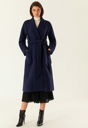 COSY BATHROBE COAT - Mantel - dark blue