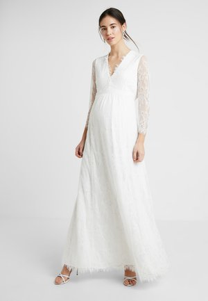 BRIDAL MATERNITY DRESS BOW - Suknia balowa - snow white