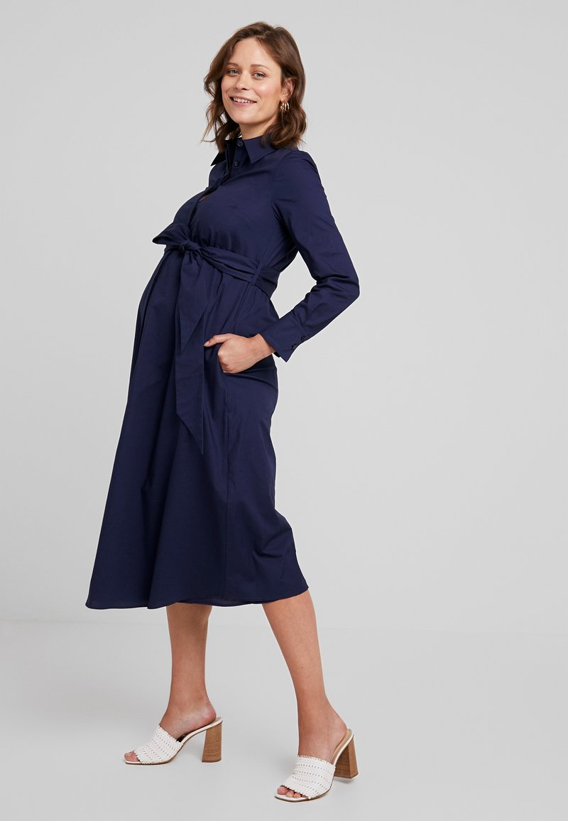 IVY & OAK Maternity - Shirt dress - winter true blue