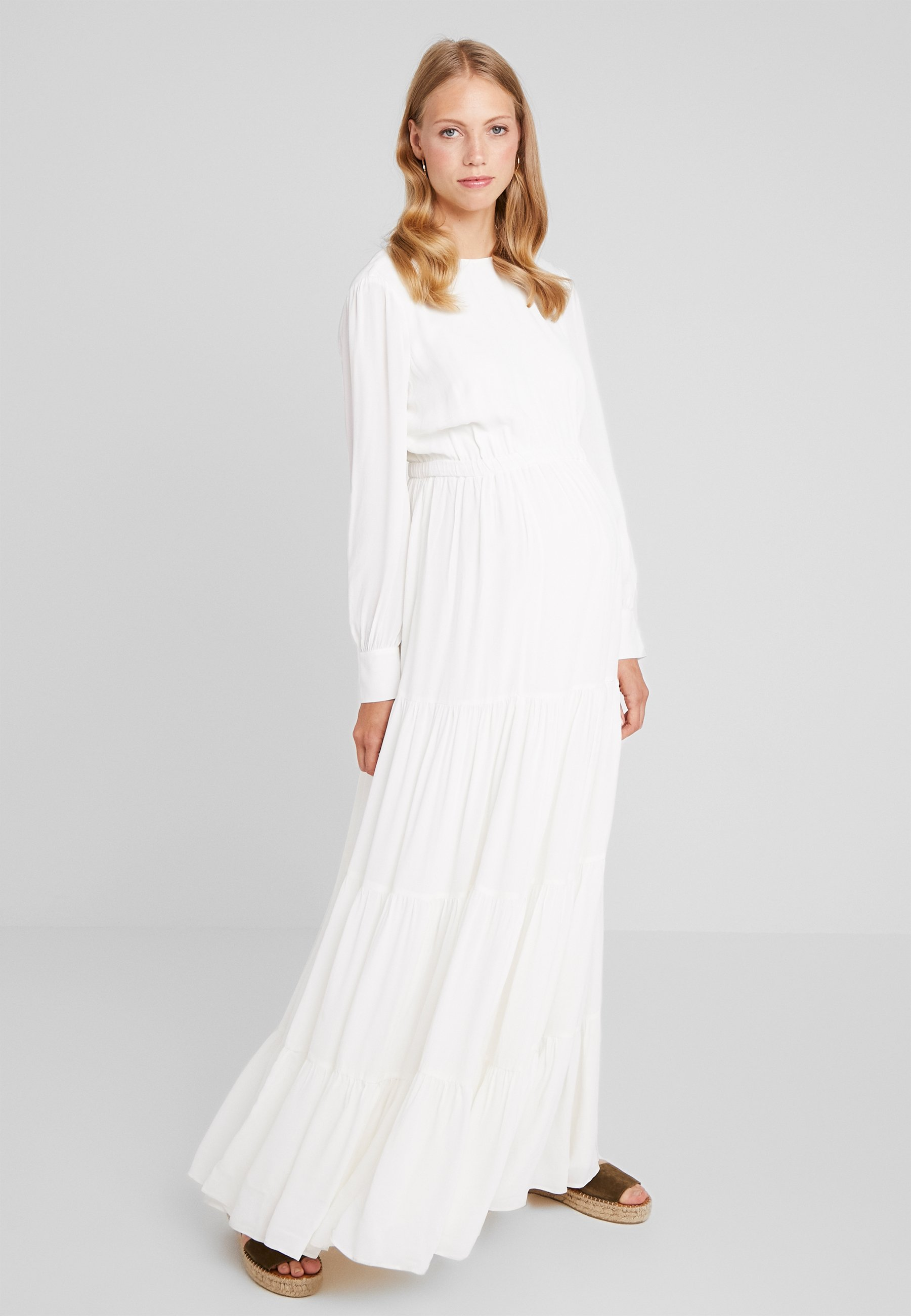 Oak Ivyamp; White Dress Snow Maternity Bridal Longue MaxiRobe dCxBero