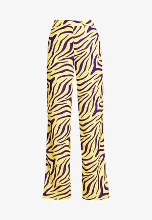 HIGH WAIST WIDE PANTS - Kalhoty - purple/yellow