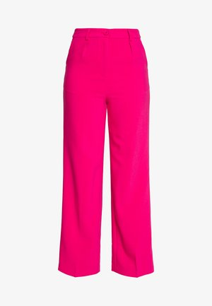 FRONT PLEATED WIDE PANTS - Bukse - pink