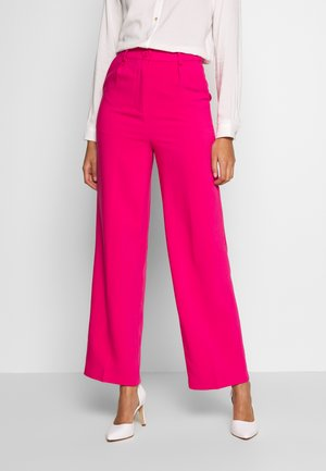 FRONT PLEATED WIDE PANTS - Kalhoty - pink