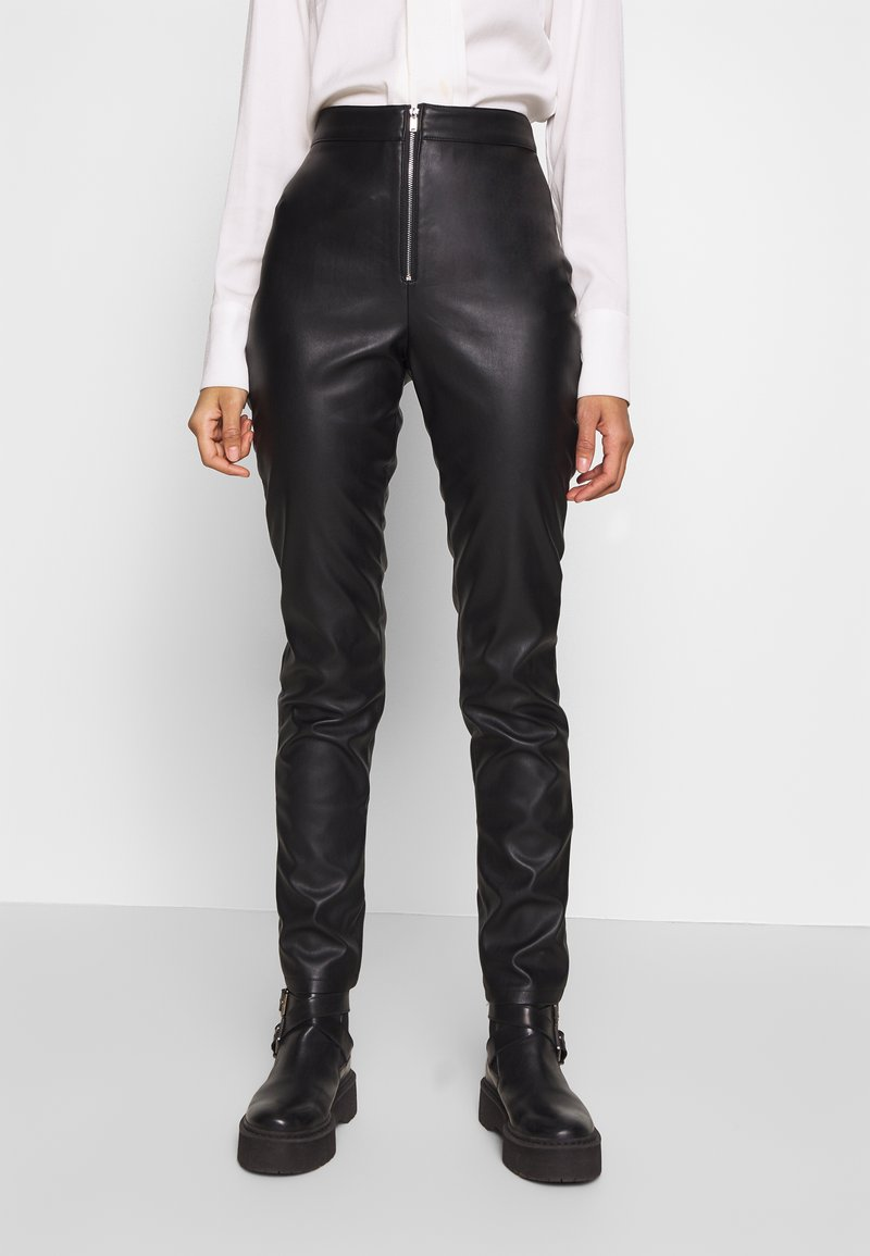 Ivyrevel - FAUX LEATHER TROUSERS - Skinnbyxor - black