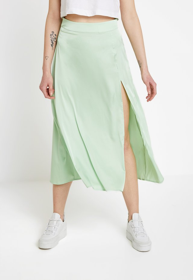 SPLIT SKIRT - Maxikjol - pastel green