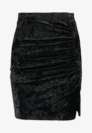 VELVET MINI SKIRT - Mini skirts  - black