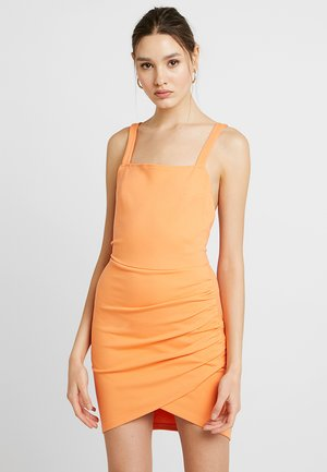 CROSS BACK MINI DRESS - Shift dress - melon