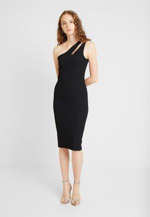 CUTOUT ONE SHOULDER DRESS - Koktejlové šaty/ šaty na párty - black