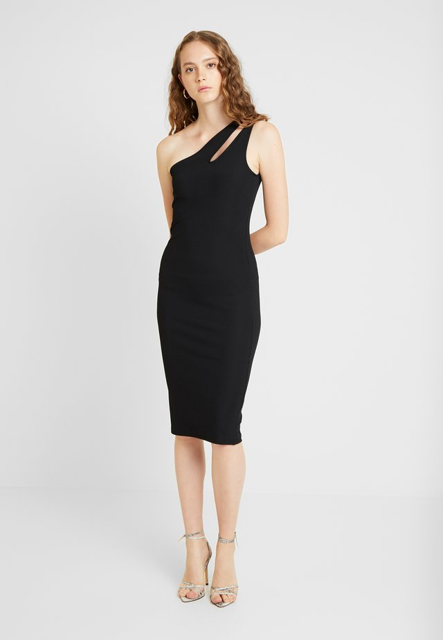 CUTOUT ONE SHOULDER DRESS - Cocktailklänning - black