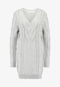 Ivyrevel - CABLE DRESS - Gebreide jurk - light grey melage - 5
